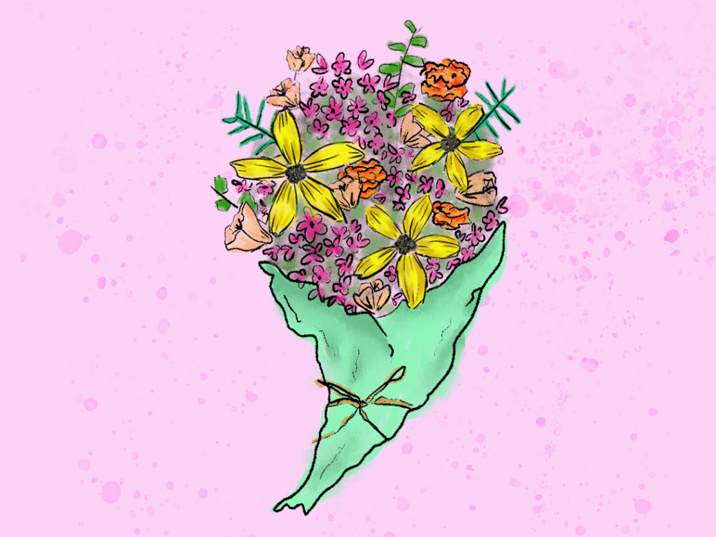 get well flowers - short animation